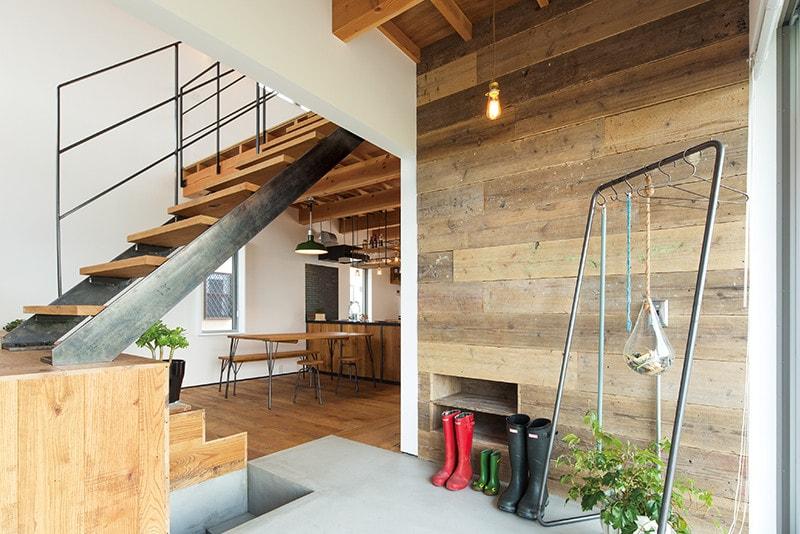 ほどよく自然体でカッコよく暮らす家、BROOKLYN HOUSE®(ブルックリンハウス)エントランス LDK