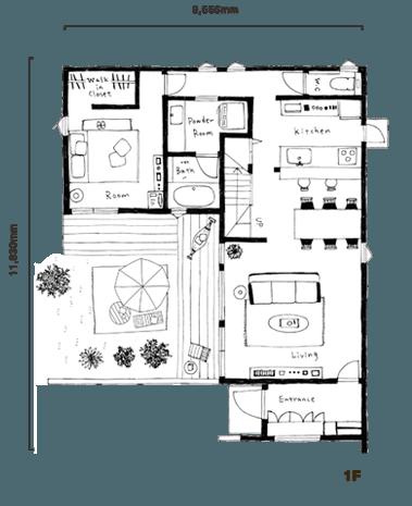 FREAK'S HOUSE(フリークス ハウス)の間取り図