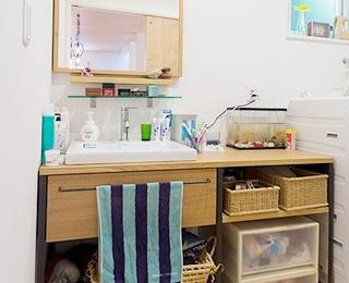 ZERO-CUBE +GARAGE(ゼロキューブ ガレージ)千葉県K様邸 toolbox木製カウンター洗面台