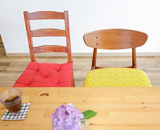 NORDIC HOUSE (ノルディックハウス)千葉県K様邸 mina perhonen(ミナ ペルホネン)の椅子カバー