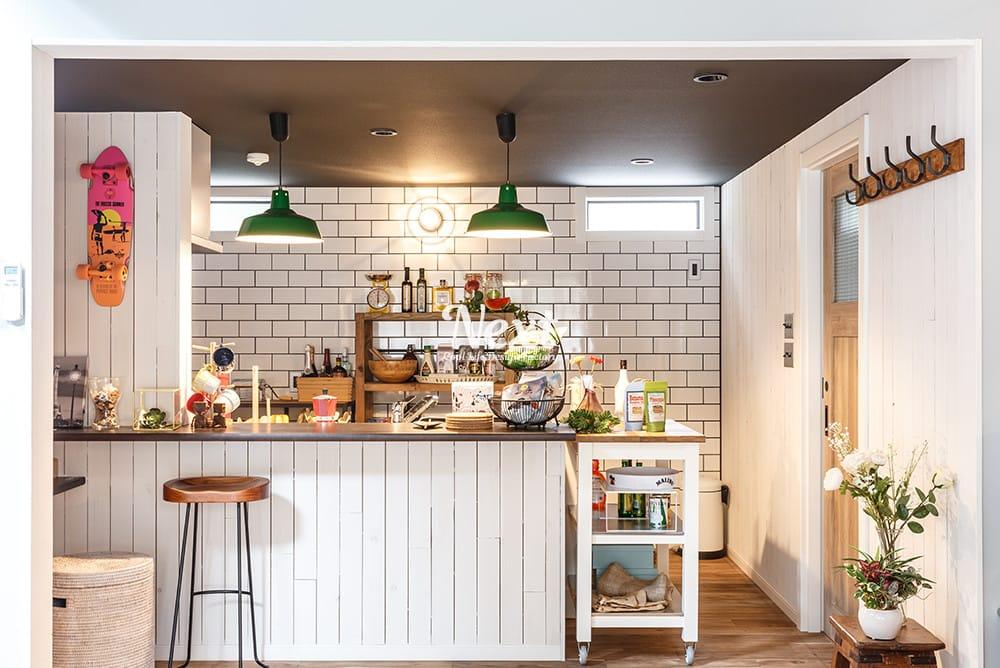 千葉県LIFE LABEL ゼロキューブ マリブ キッチン写真
